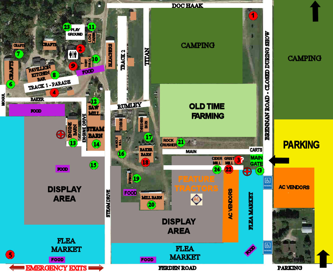 SHOWGROUNDS MAP
